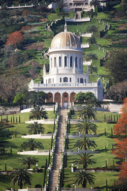 The Shrine of the Báb, Mount Carmel, Haifa, Israel.