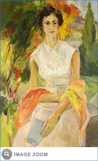 "Devlin painting entitled ""Nan Gordon"" (1963) from the Vernon Public Art Gallery."