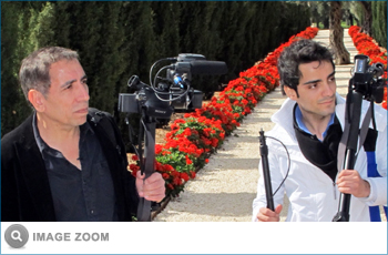 Mohsen Makhmalbaf and his son